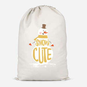 Christmas Snow Cute Snowman Cotton Storage Bag