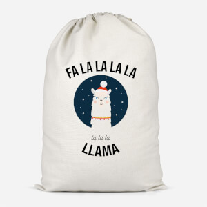 Fa La La La Llama Cotton Storage Bag