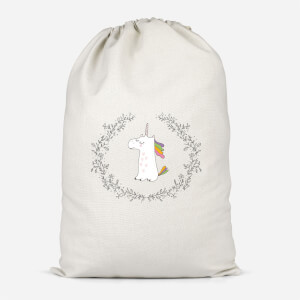Unicorn Crest Cotton Storage Bag