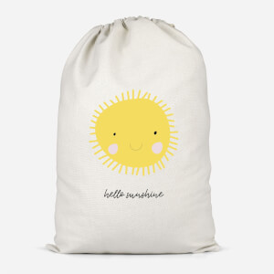 Hello Sunshine Cotton Storage Bag
