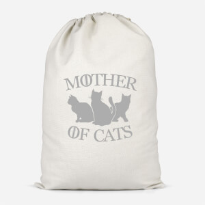 Mother Of Cats Black Tee Cotton Storage Bag