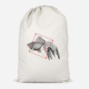 Fish In Geometry Cotton Storage Bag