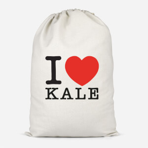 I Heart Kale Cotton Storage Bag