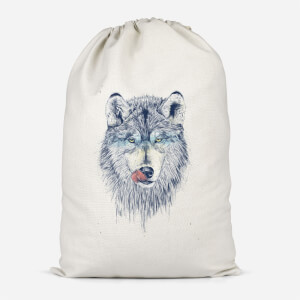 Wolf Eyes Cotton Storage Bag