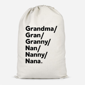 Gran's And Nan's Cotton Storage Bag