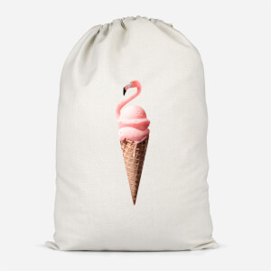 Flamingo Ice Cream Cotton Storage Bag