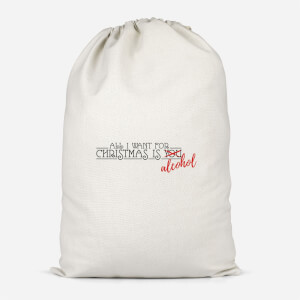 All I Want For Christmas Is Alcohol Cotton Storage Bag