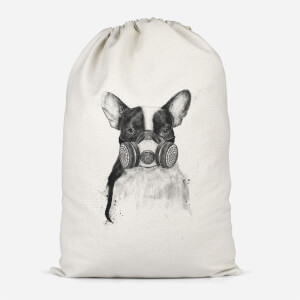 Masked Bulldog Cotton Storage Bag