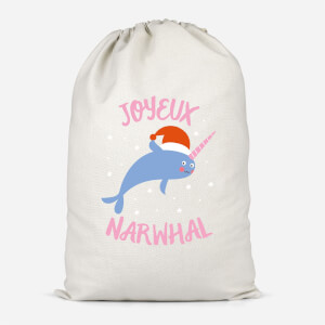 Joyeux Narwhal Cotton Storage Bag