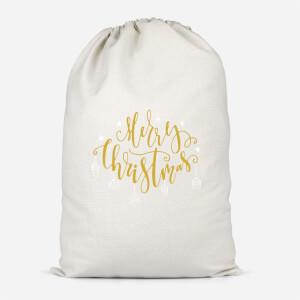 Merry Christmas Cotton Storage Bag