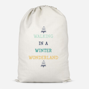 Walking In A Winter Wonderland Cotton Storage Bag
