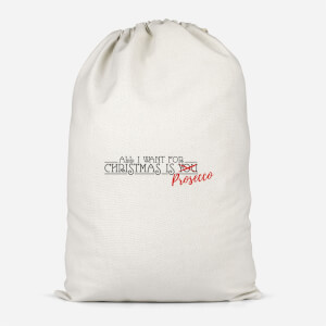All I Want For Christmas Is Prosecco Cotton Storage Bag