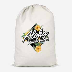 Aloha Beach Vibes Cotton Storage Bag