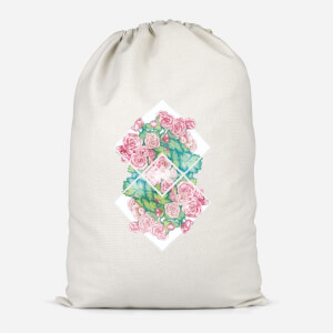 Flowers Cotton Storage Bag
