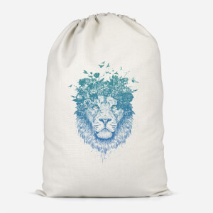Lion And Butterflies Cotton Storage Bag