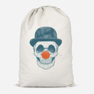 Red Nosed Skull Cotton Storage Bag