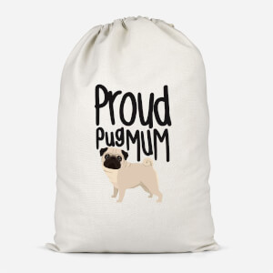 Proud Pug Mum Cotton Storage Bag