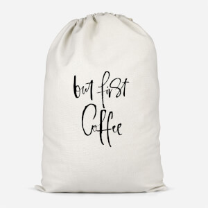 But First, Coffee Cotton Storage Bag