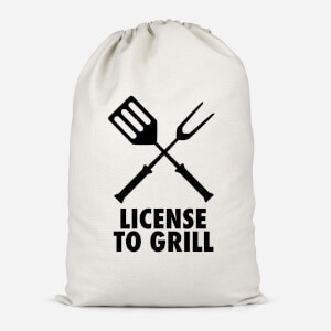 License To Grill Cotton Storage Bag