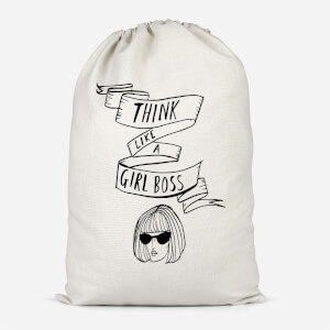 Think Like A Girl Boss Cotton Storage Bag