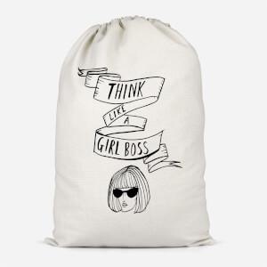 Think Like A Girl Boss Cotton Storage Bag