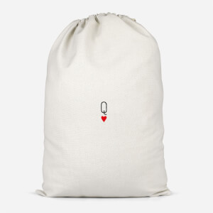 Queen Of Hearts Cotton Storage Bag
