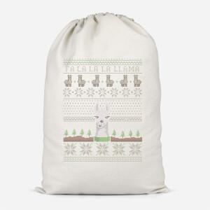 Fa La La La Llama Cotton Storage Bag