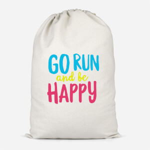 Go Run And Be Happy Cotton Storage Bag