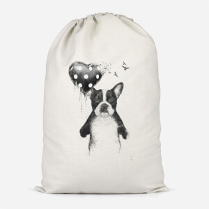 Bulldog And Balloon Cotton Storage Bag