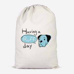 Having A Ruff Day Cotton Storage Bag