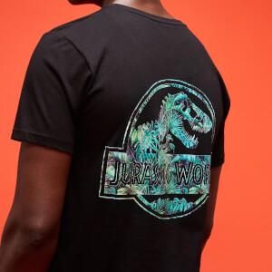 Jurassic Park Primal Leaf Print Logo T-Shirt - Black
