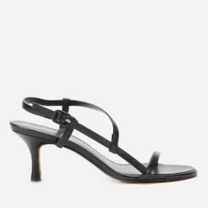 Whistles Women's Milana Asymmetric Heeled Sandals - Black