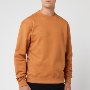 JW Anderson Men's JWA Embroidery Logo Sweatshirt - Cinnamon