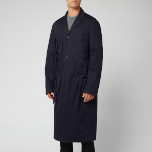 JW Anderson Men's Oversize Drawstring Long Jacket - Navy