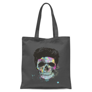 Colourful Skull Tote Bag - Grey
