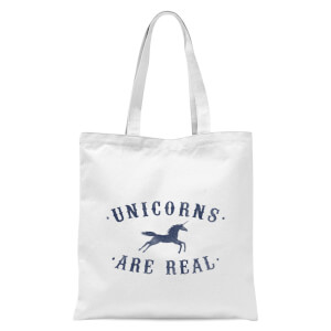 Unicorns Are Real Tote Bag - White