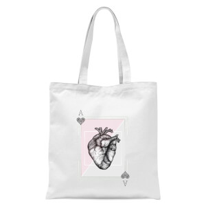 Ace Of Hearts Tote Bag - White