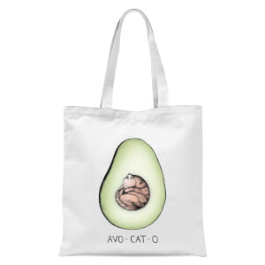 Avo-Cat-O Tote Bag - White