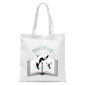 Believe Tote Bag - White