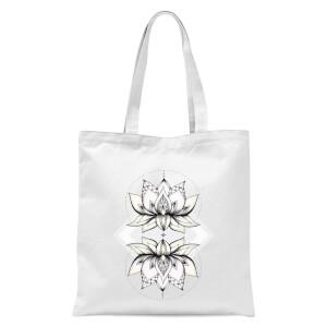 Lotus Tote Bag - White