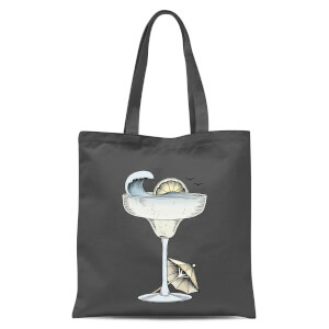 Summer Cocktail Tote Bag - Grey