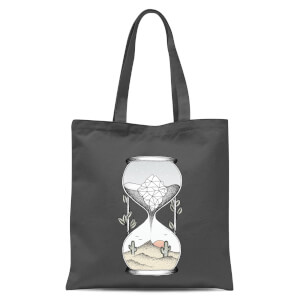 Time Is Running Out Tote Bag - Grey