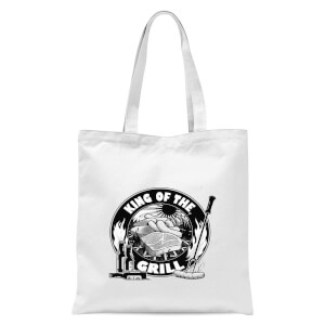King Of The Grill Tote Bag - White