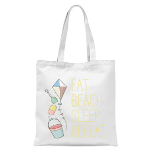 Eat Beach Sleep Repeat Tote Bag - White