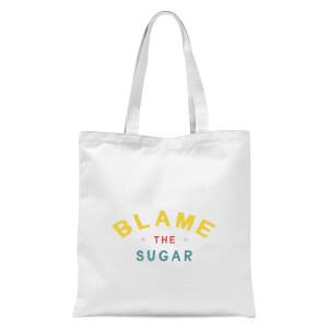 Blame The Sugar Tote Bag - White