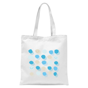 Happy Dots Tote Bag - White