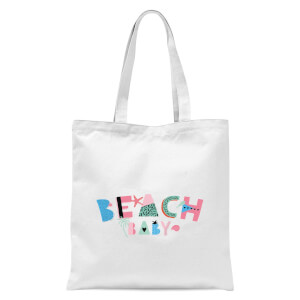 Beach Baby Tote Bag - White