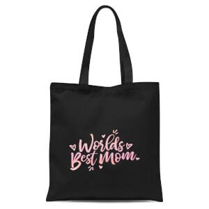 Worlds Best Mom Tote Bag - Black