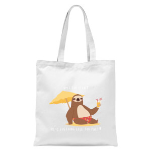 Am I Too Slow? Tote Bag - White