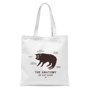 The Anatomy Of Cat Love Tote Bag - White